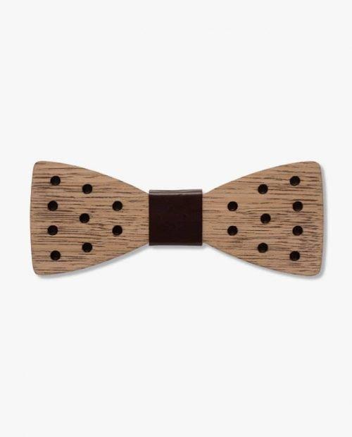 дървена папионка чаплин