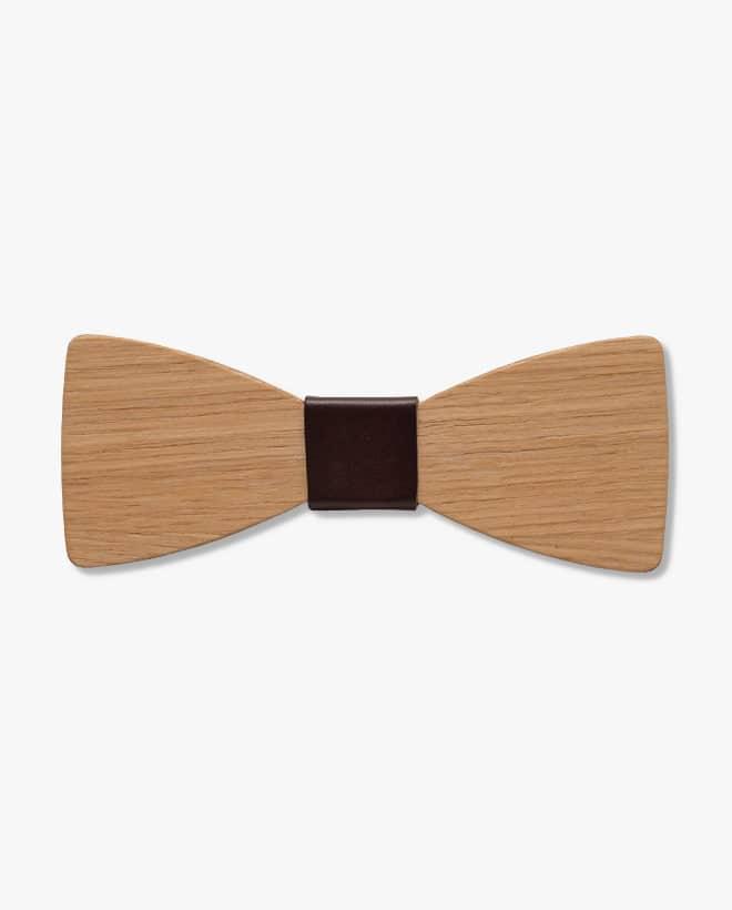 дървена папионка тина