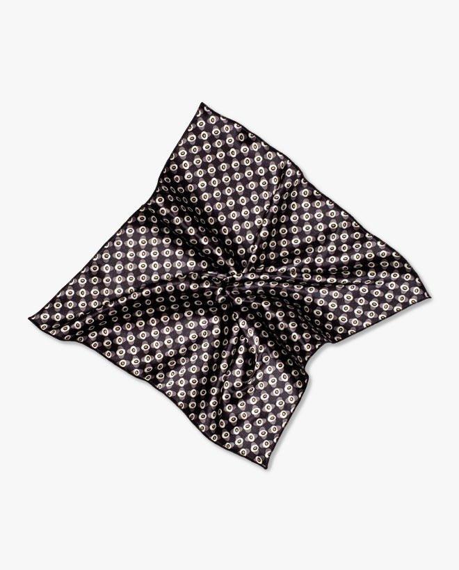 Джобна кърпичка черен паун