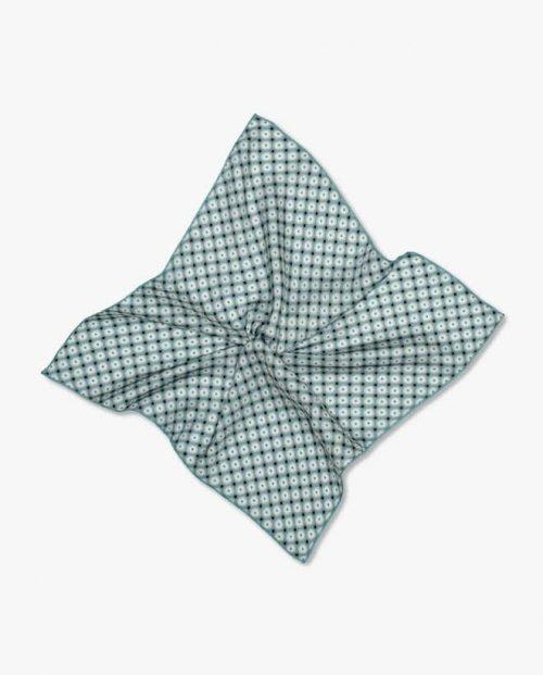 Джобна кърпичка син паун