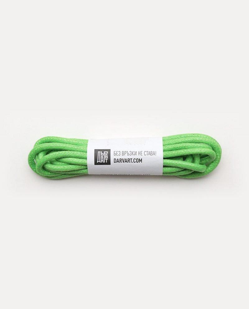 светлозелени връзки обувки дърварт