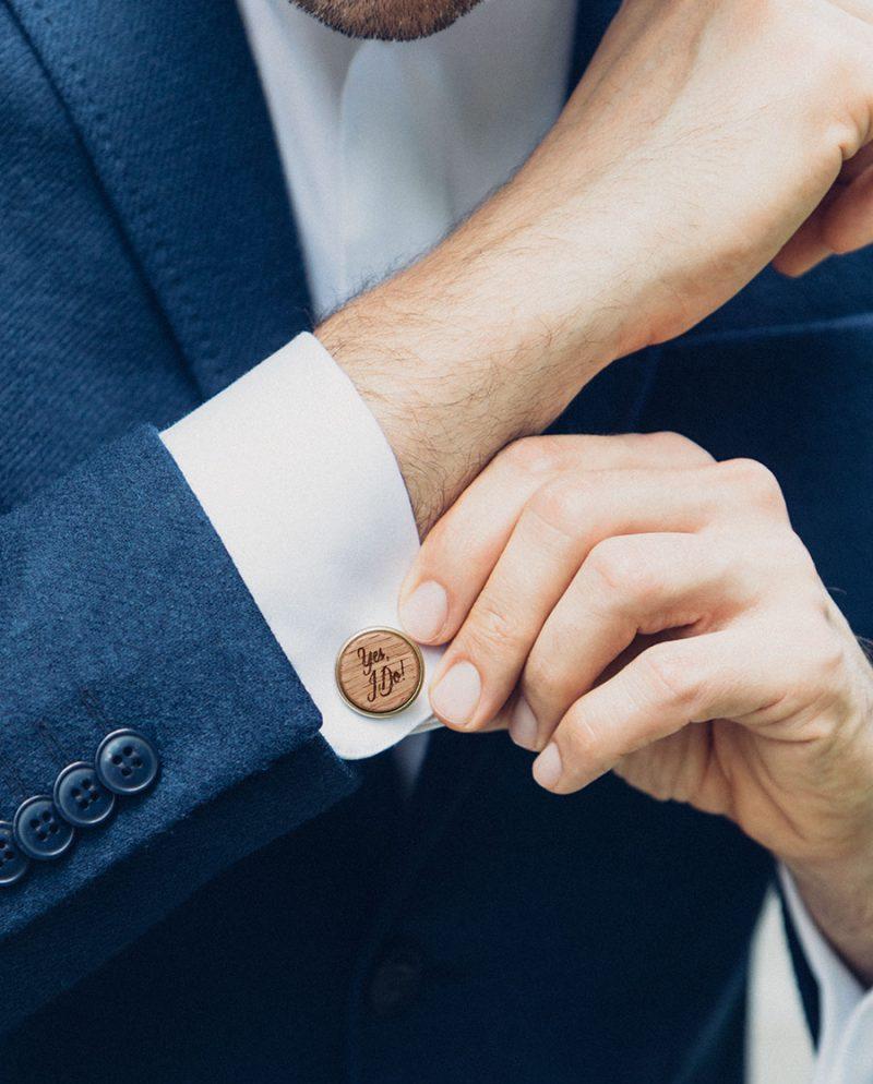 дървени бутонели сватба