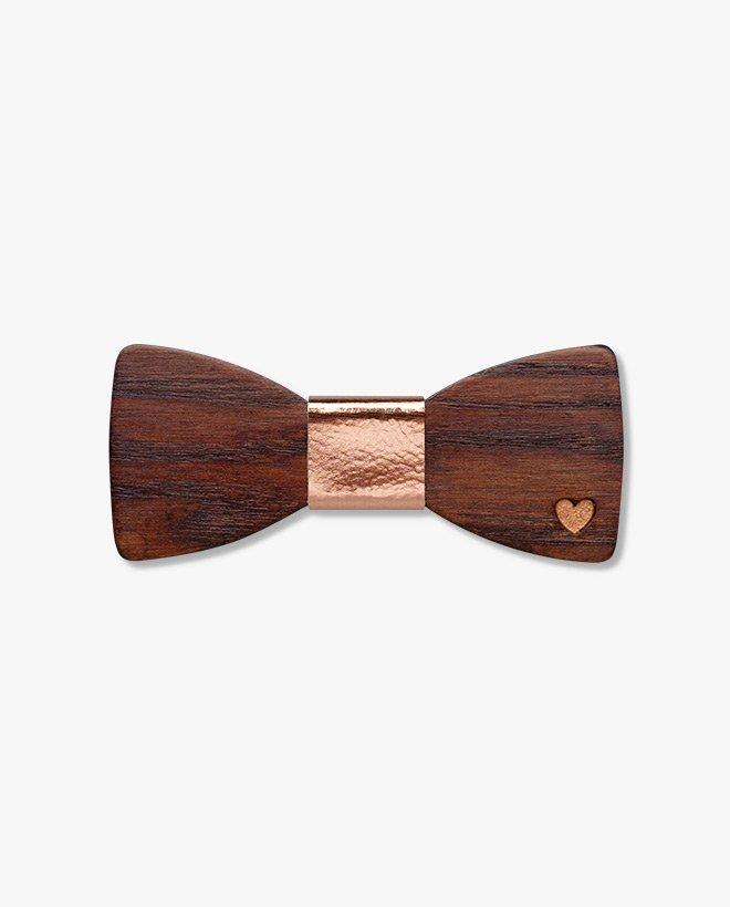 дървена папионка париж злато