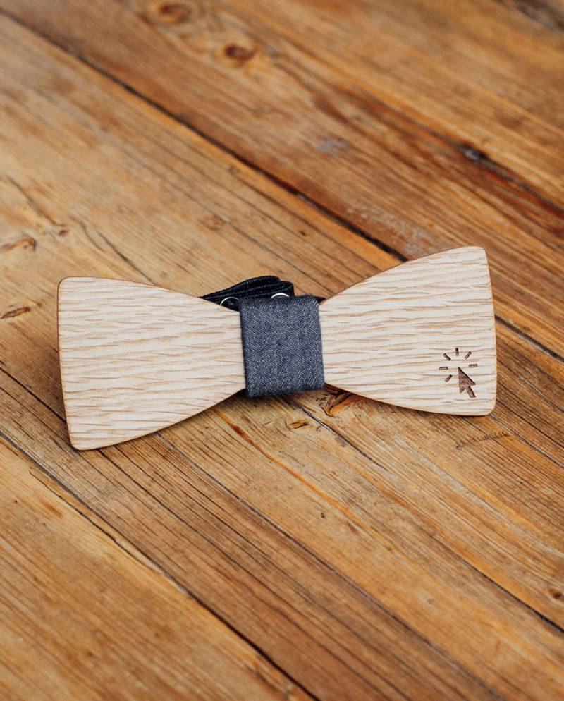 дървена папионка деним курсор