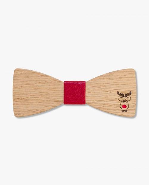 дървена папионка подарък Коледа