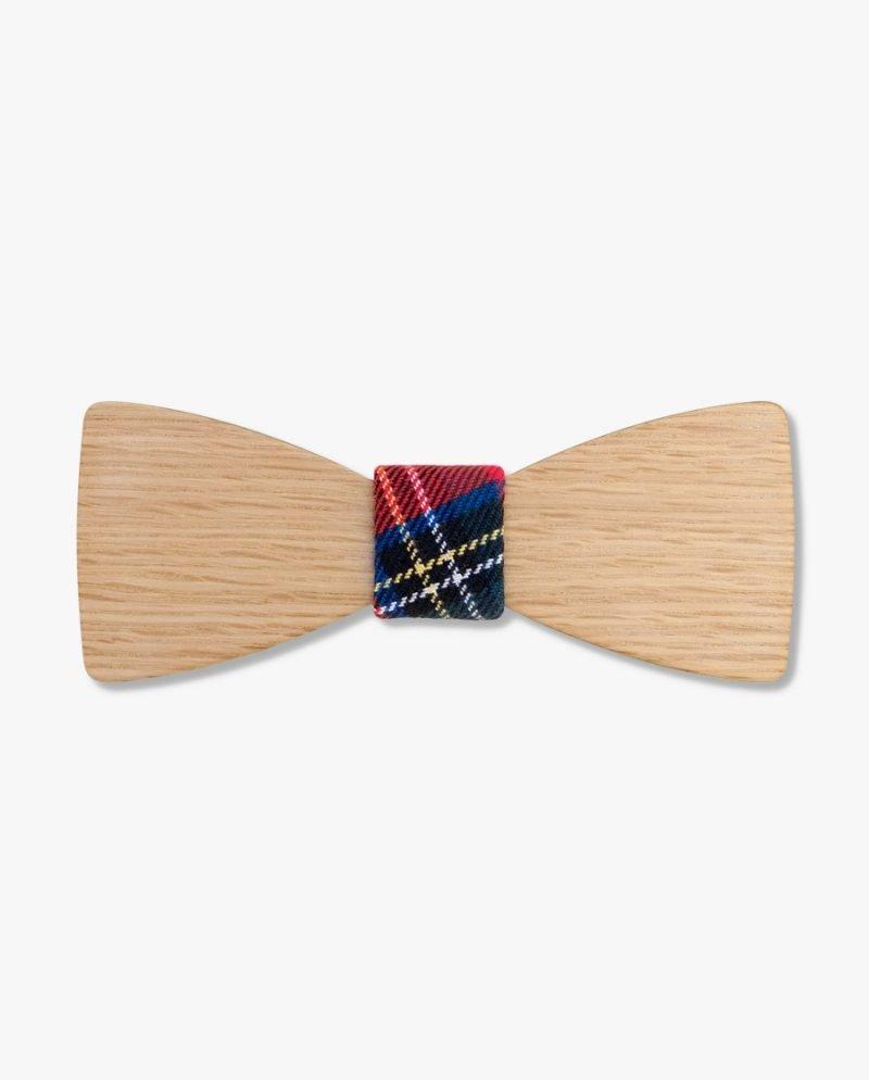 дървена папионка шотландско каре