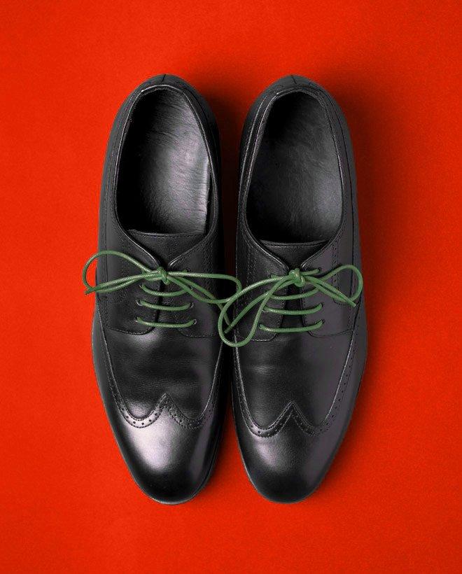 връзки обувки войнишко зелено