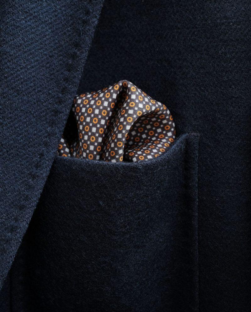 кафява джобна кърпичка точки