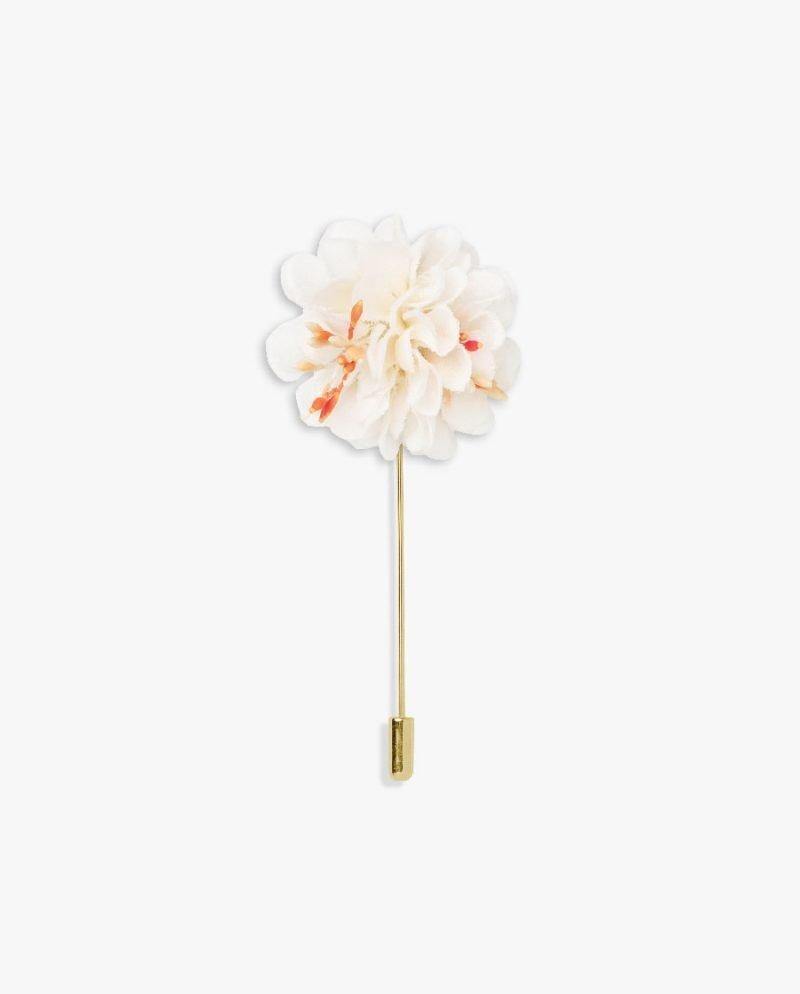 бяло цвете игла за ревер