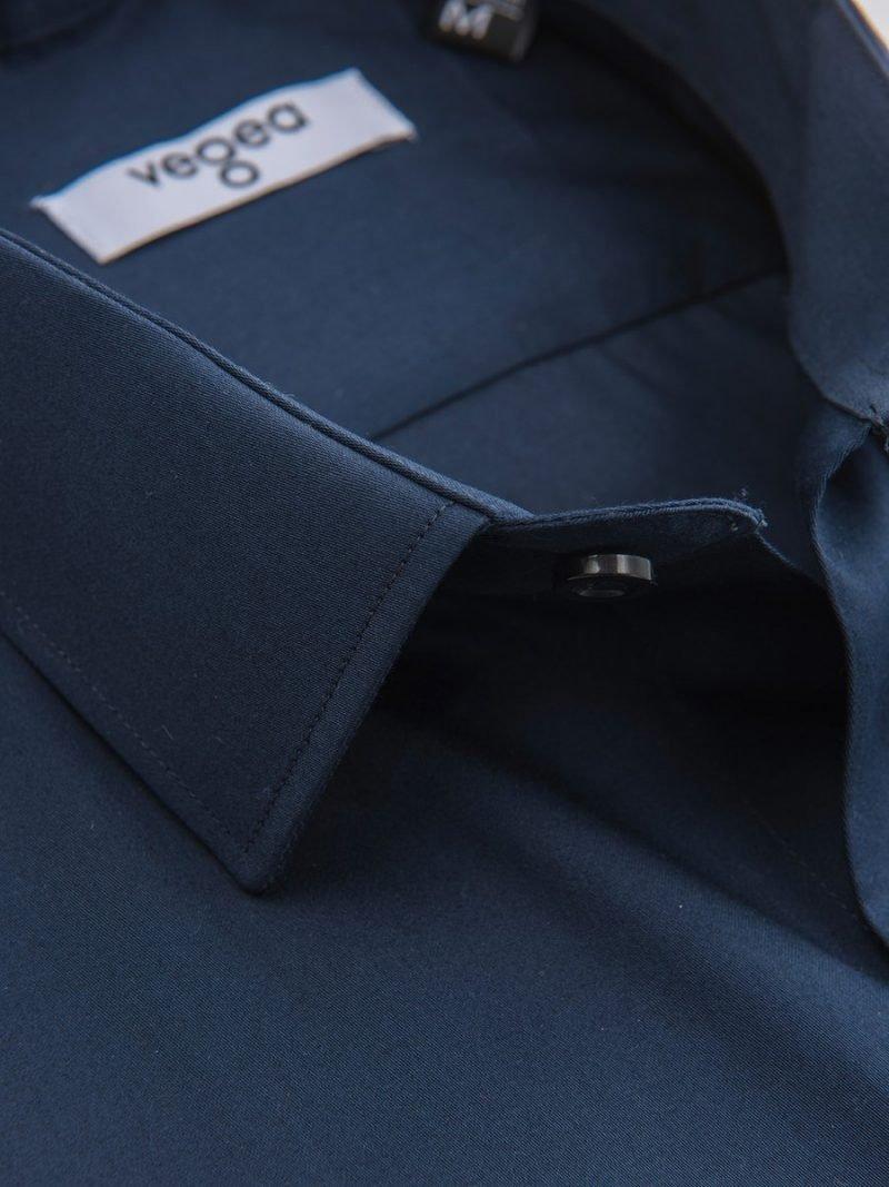 тъмносиня вталена риза слим