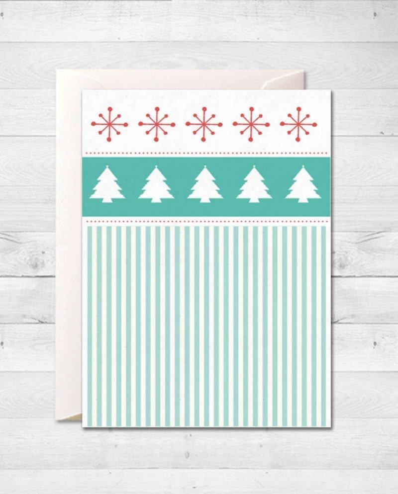 картичка елхи снежинки