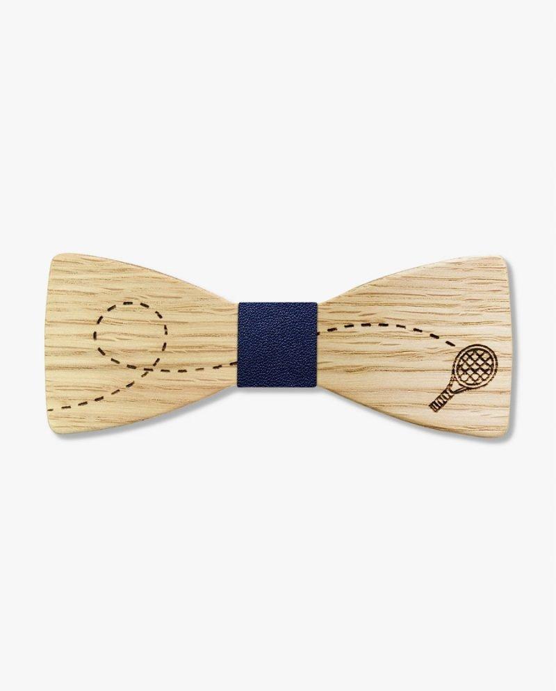 дървена папионка тенис ракета дърварт