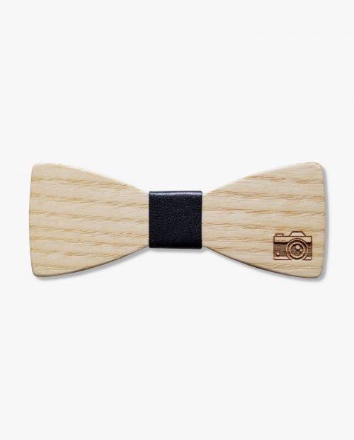 дървена папионка камера фотограф дърварт