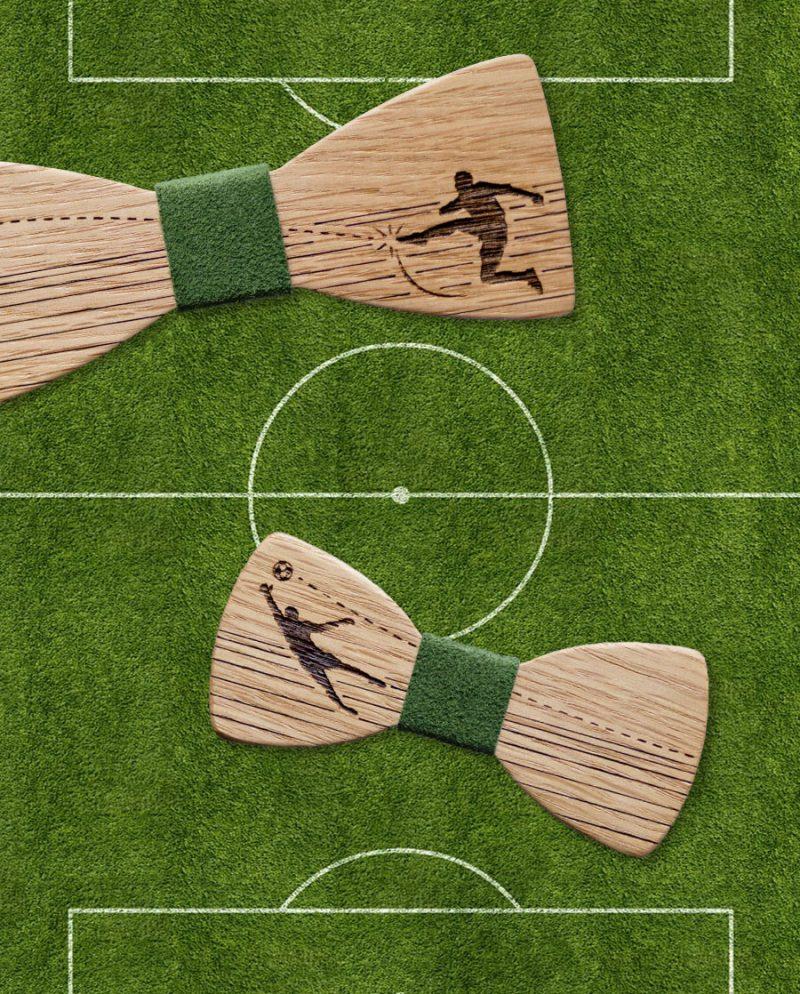 футболен подарък дървена папионка дърварт