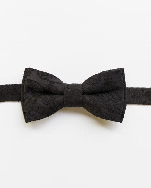 класическа черна папионка плат дърварт