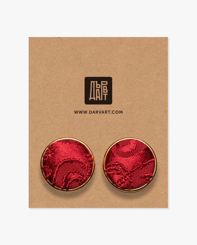 бутонели червен жакард комплект дърварт