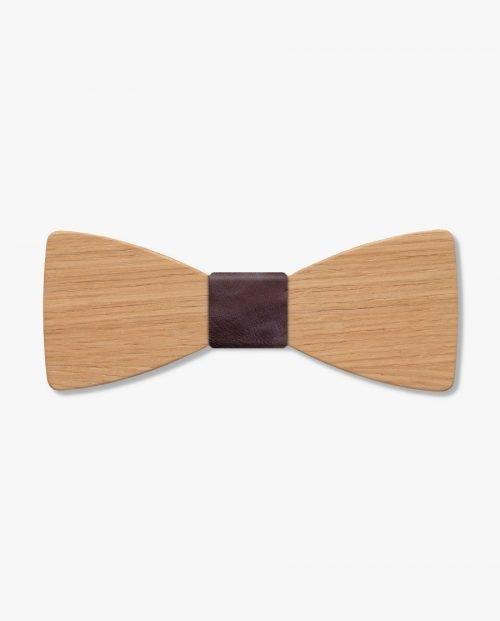дървена папионка кафява кожа дърварт