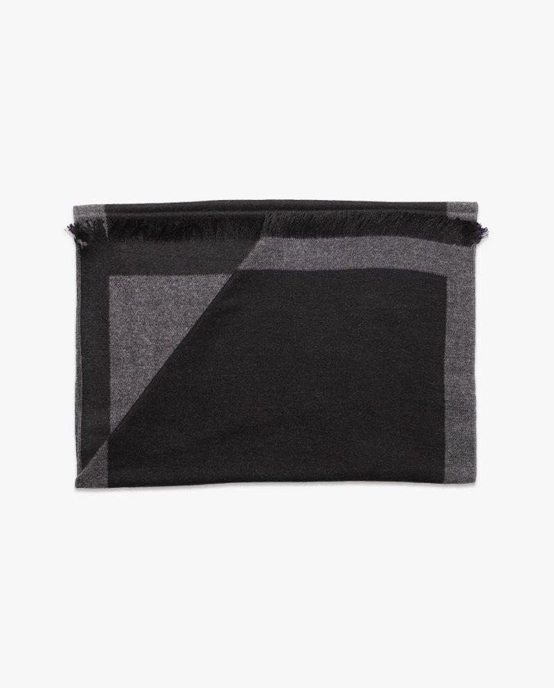черен двулицев зимен шал дърварт