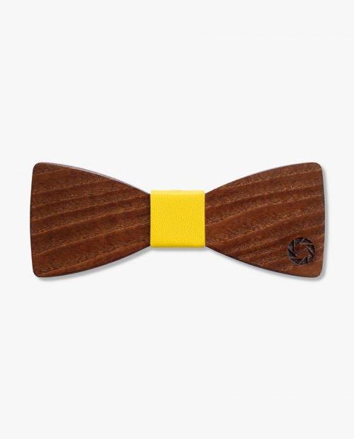 кафява дървена папионка гравирана дърварт