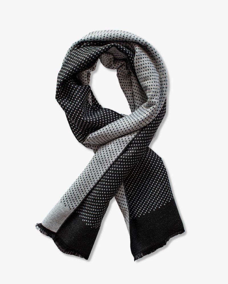 черно-бял кашмирен шал точки дърварт